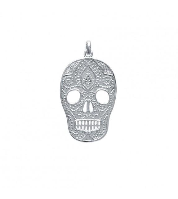 Pendentif Tête de mort Skull Argent 925/00 rhodié