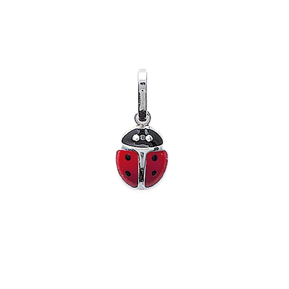 Pendentif coccinelle email rouge Argent 925/00