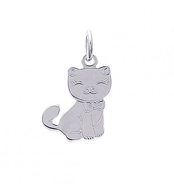 Pendentif animal chat Argent 925/00