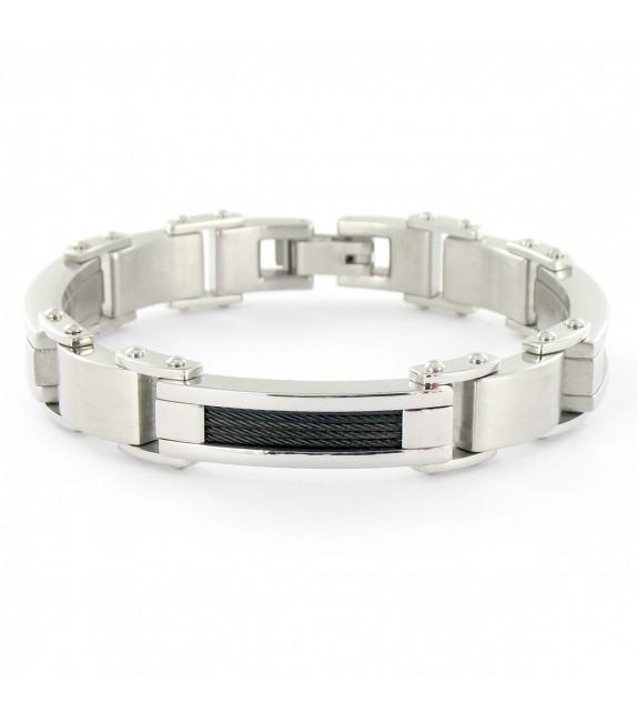 Bracelet articulé en Acier motifs cordes
