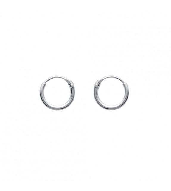 Boucles d'oreilles créoles 8 mm Argent 925/00
