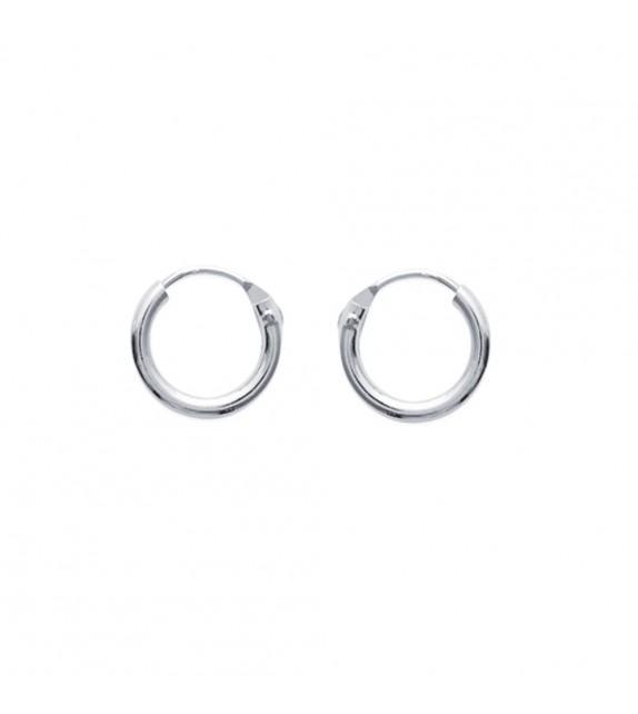 Boucles d'oreilles créoles 10 mm Argent 925/00