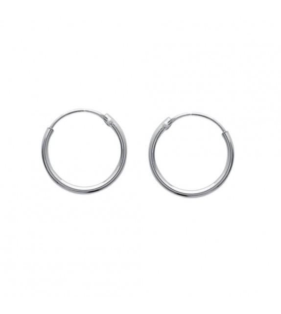 Boucles d'oreilles créoles 16 mm Argent 925/00