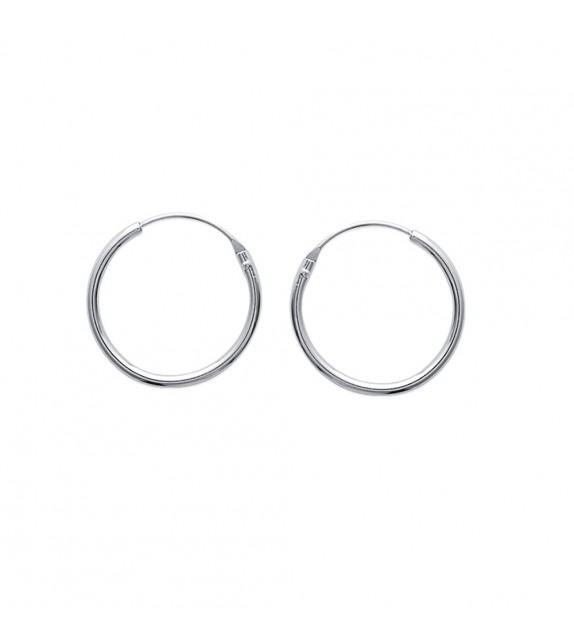 Boucles d'oreilles créoles 18 mm Argent 925/00