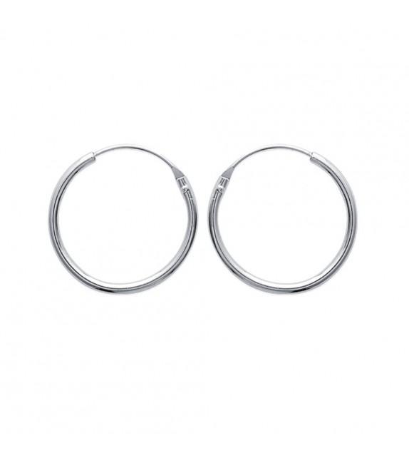Boucles d'oreilles créoles 25 mm Argent 925/00