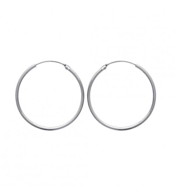 Boucles d'oreilles créoles 35 mm Argent 925/00
