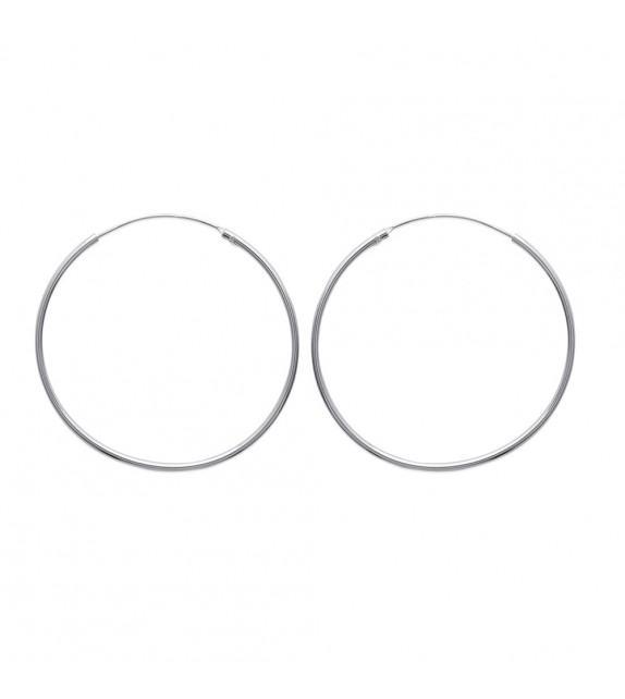Boucles d'oreilles créoles 45 mm Argent 925/00