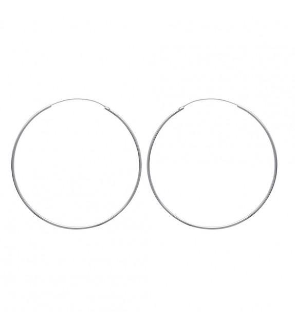 Boucles d'oreilles créoles 60 mm Argent 925/00