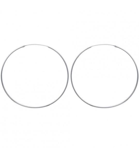 Boucles d'oreilles créoles 70 mm Argent 925/00