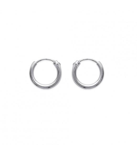 Boucles d'oreilles créoles 12 mm Argent 925/00