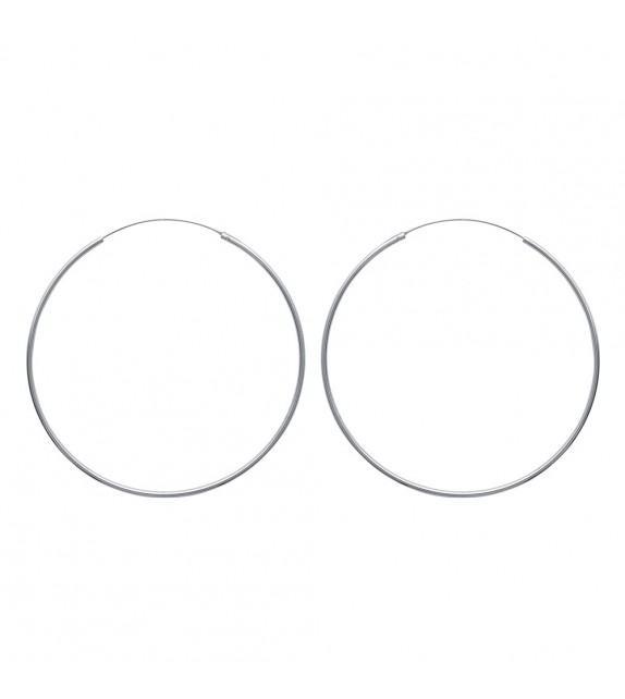 Boucles d'oreilles créoles 80 mm Argent 925/00