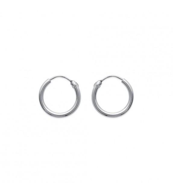 Boucles d'oreilles créoles 14 mm Argent 925/00