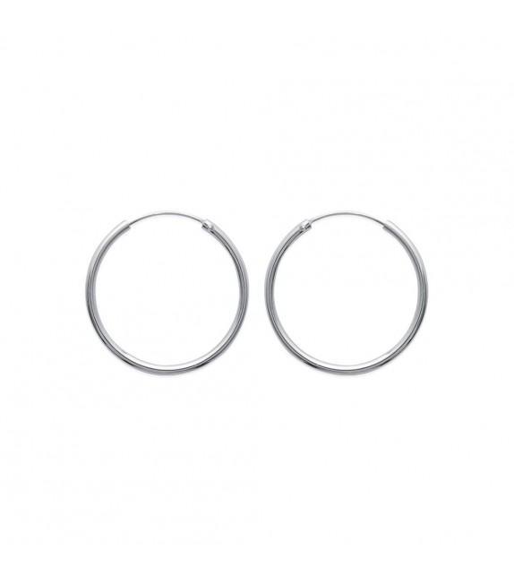 Boucles d'oreilles créoles 30 mm Argent 925/00