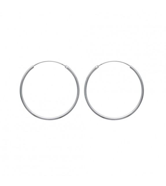 Boucles d'oreilles créoles 40 mm Argent 925/00