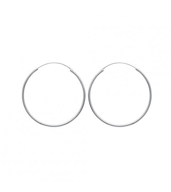 Boucles d'oreilles créoles 50 mm Argent 925/00