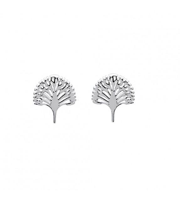 Boucles d'oreilles arbre du voyageur Argent 925/00