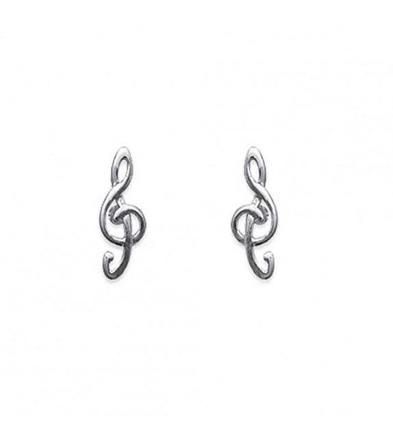 Boucles d'oreilles clé de sol Argent 925/00