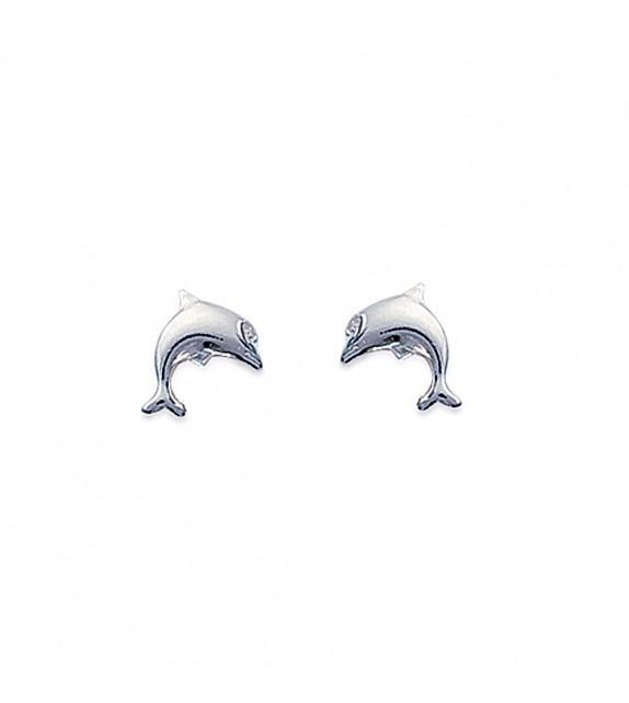 Boucles d'oreilles dauphin Argent 925/00