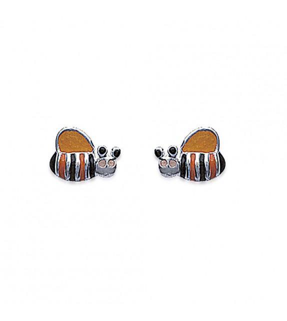 Boucles d'oreilles abeille Argent 925/00