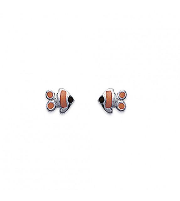 Boucles d'oreilles poisson clown Argent 925/00