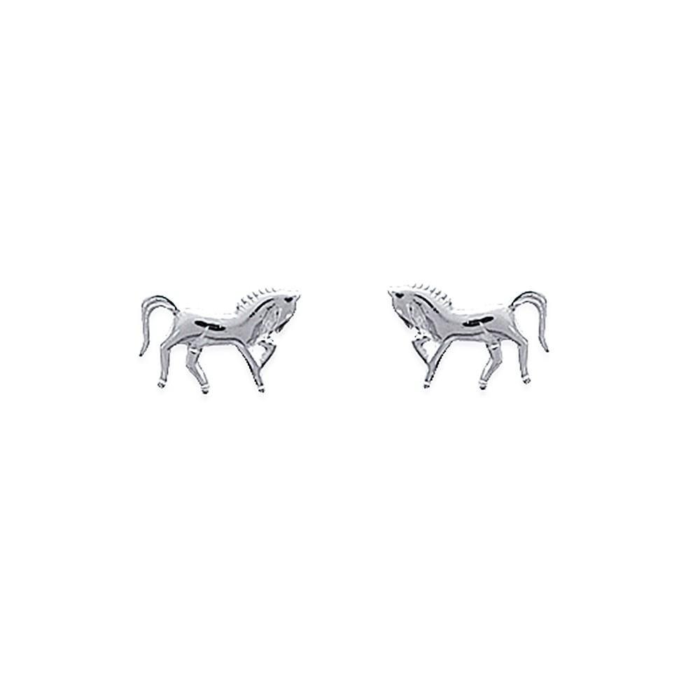 Boucles d'oreilles cheval Argent 925/00