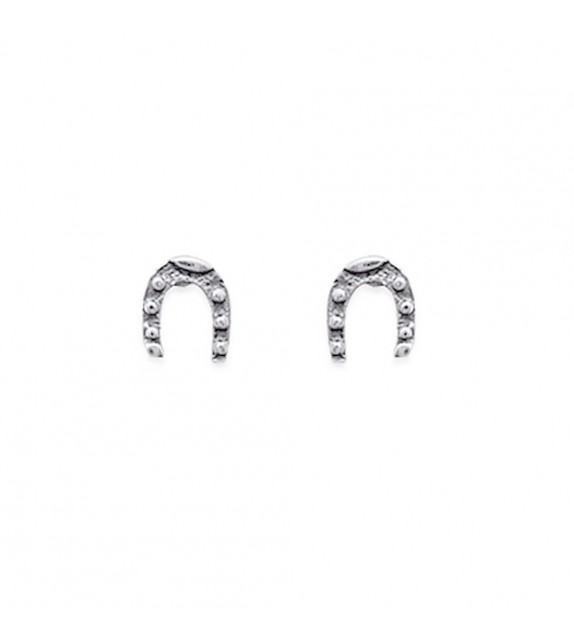 Boucles d'oreilles fer à cheval 925/00