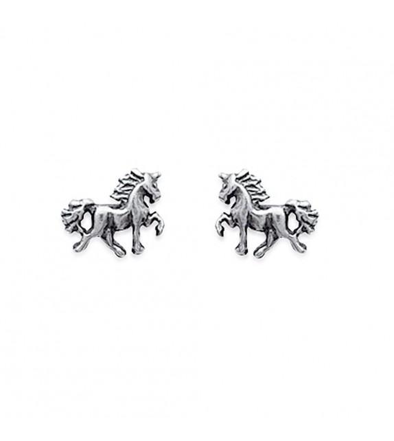 Boucles d'oreilles licorne Argent 925/00