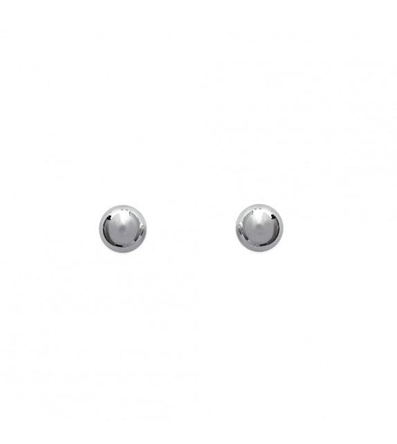 Boucles d'oreilles puces perle 3 mm Argent 925/00