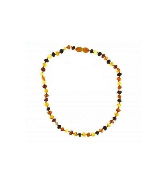 Collier ambre multicolore enfant