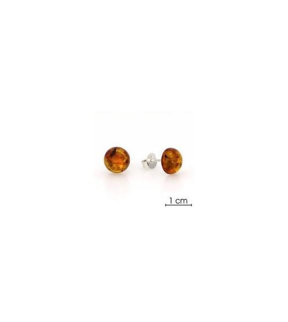 Boucles d'oreilles ambre argent 925/00