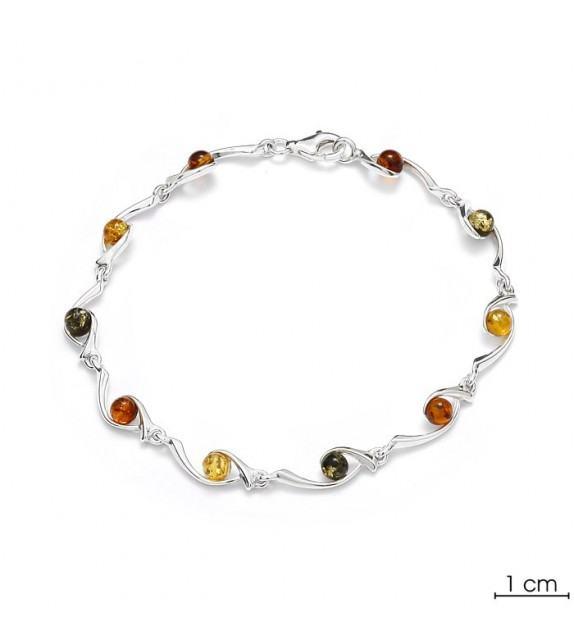 Bracelet ambre argent 925/00