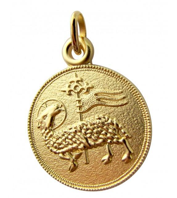 Médaille Agnus Deï Or jaune 375/00