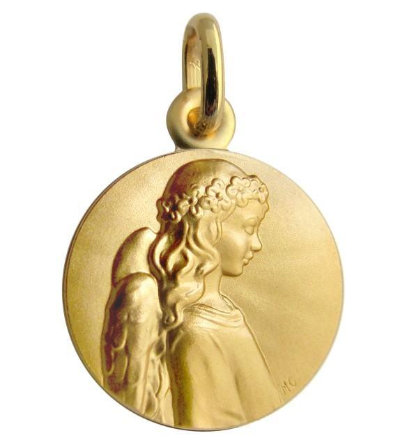 Médaille Ange apaisé Or jaune 375/00