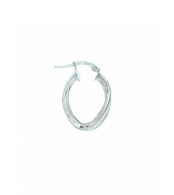 Boucles d'oreilles créoles Glitter or blanc 375/00