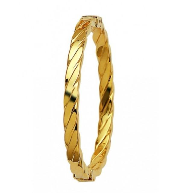 Bracelet jonc or jaune 750/00