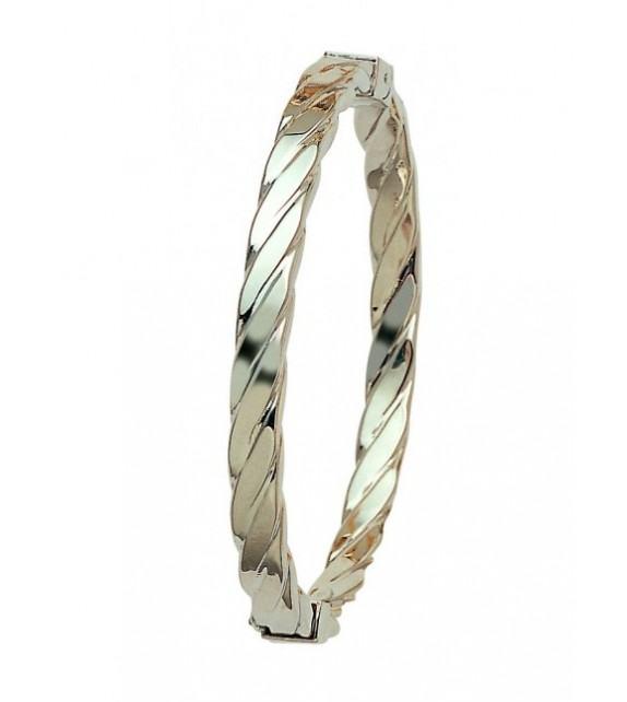 Bracelet jonc or blanc 750/00