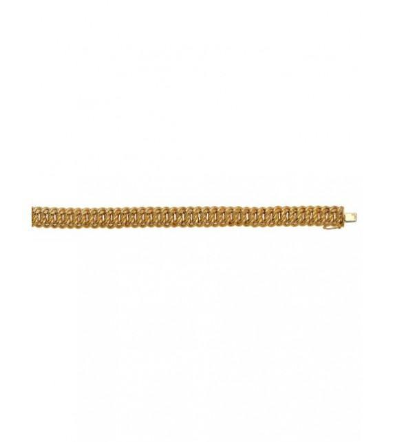 Bracelet maille américaine or jaune 375/00