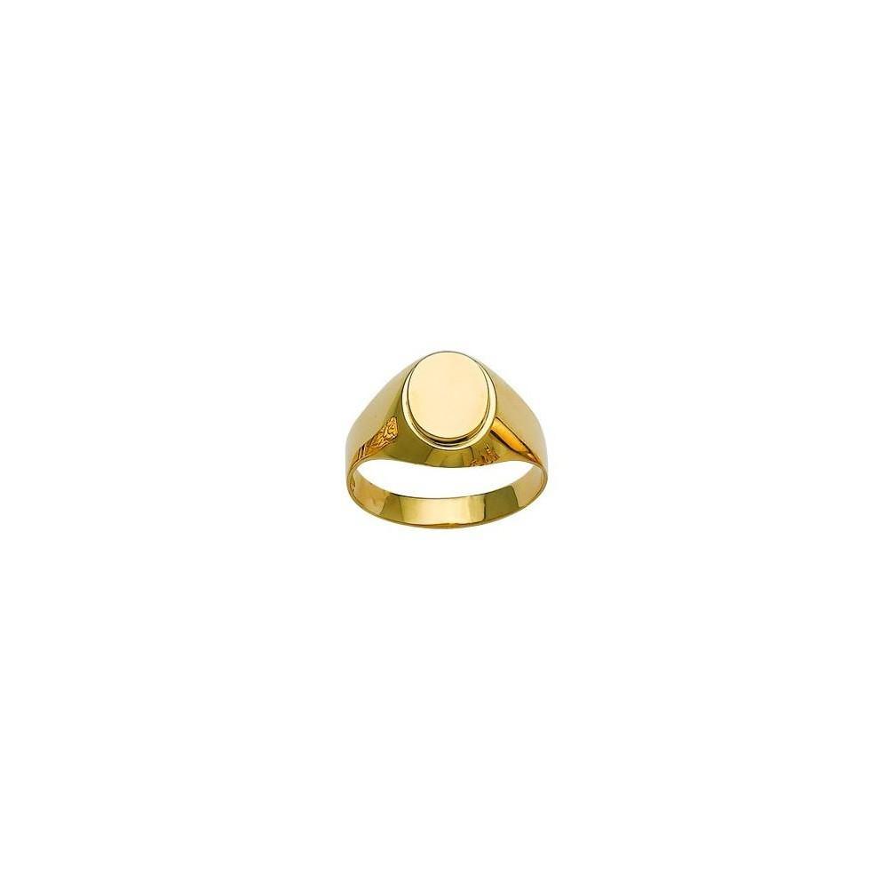 Chevalière or jaune 750/00