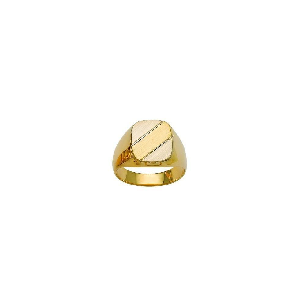 Chevalière or bicolore 750/00