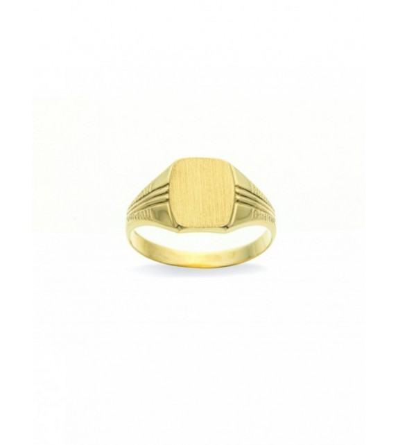 Chevalière or jaune 375/00