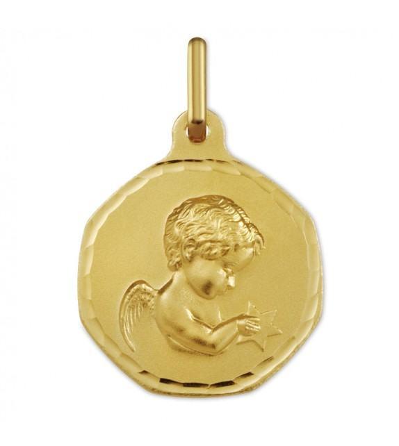 Médaille Ange étoile or Jaune 375/00