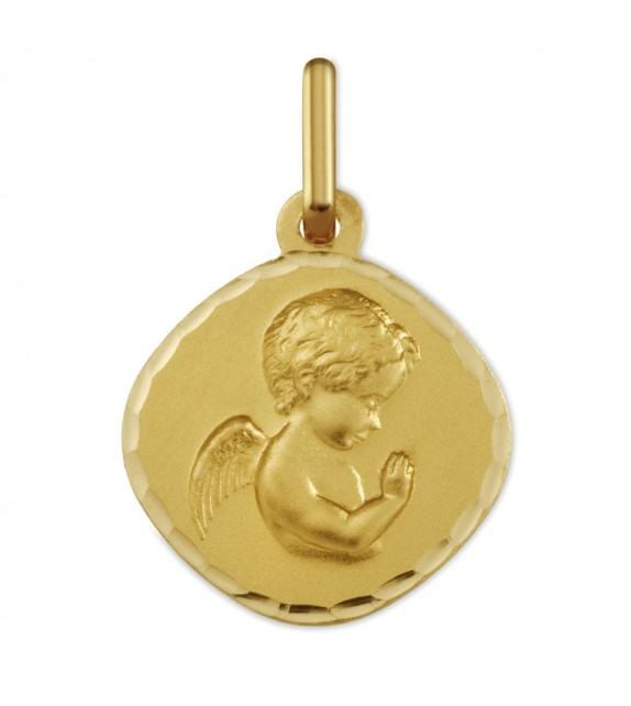 Médaille Ange priant or Jaune 375/00