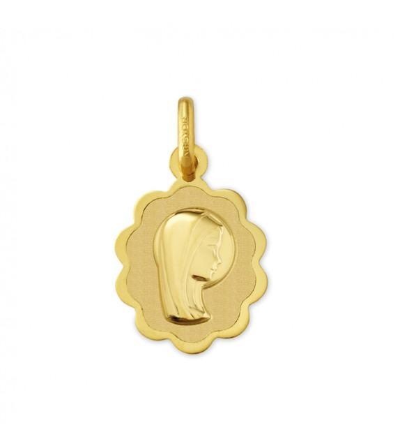 Médaille Vierge Marie or Jaune 375/00