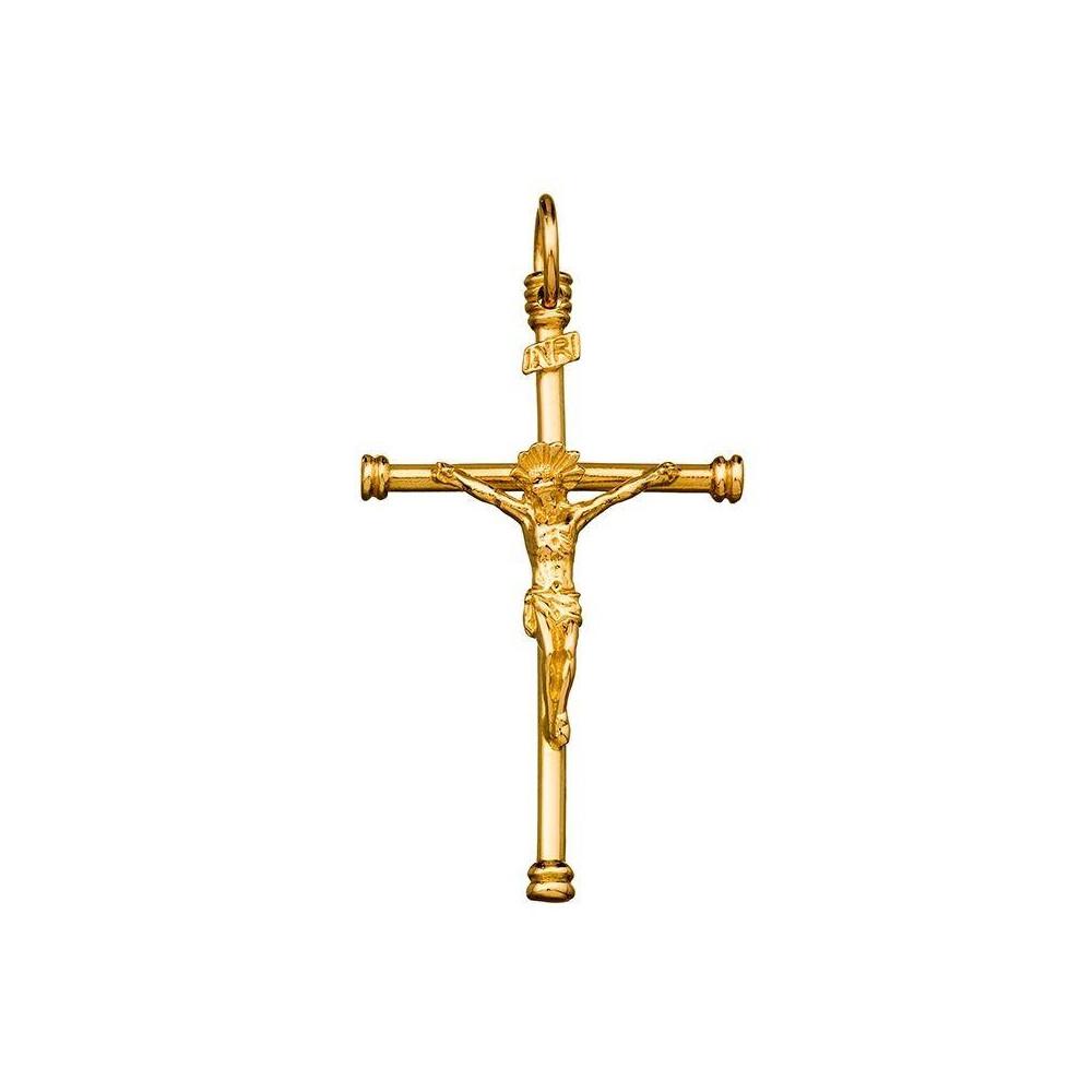 Croix avec Christ or jaune 375/00
