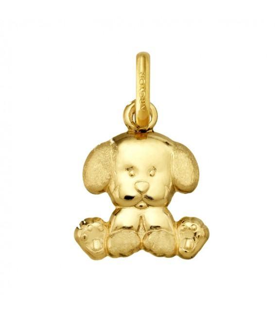 Pendentif chien or jaune 375/00