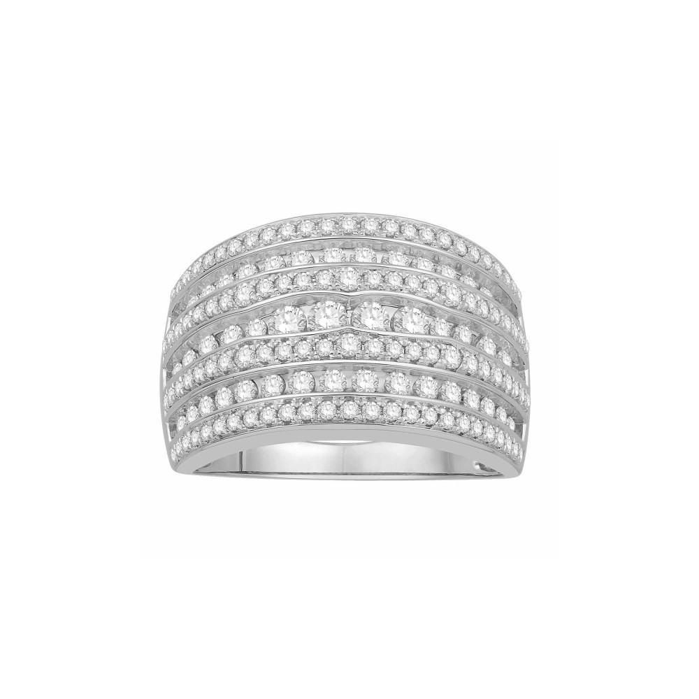 bague diamants type jonc plat large or blanc 375 00 tous mes bijoux. Black Bedroom Furniture Sets. Home Design Ideas