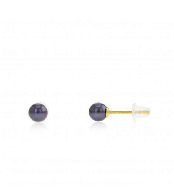 Boucles d'oreilles perles d'eau douce 4-4,5 mm Or jaune 375/00