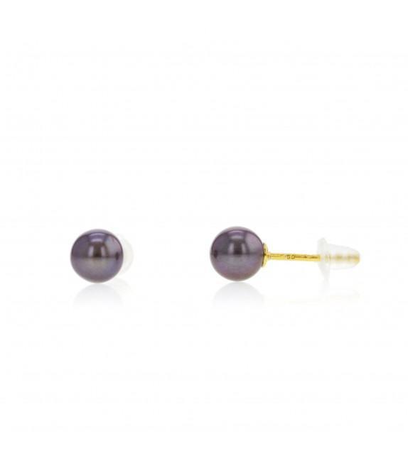 Boucles d'oreilles perles d'eau douce 5-5,5 mm Or jaune 375/00