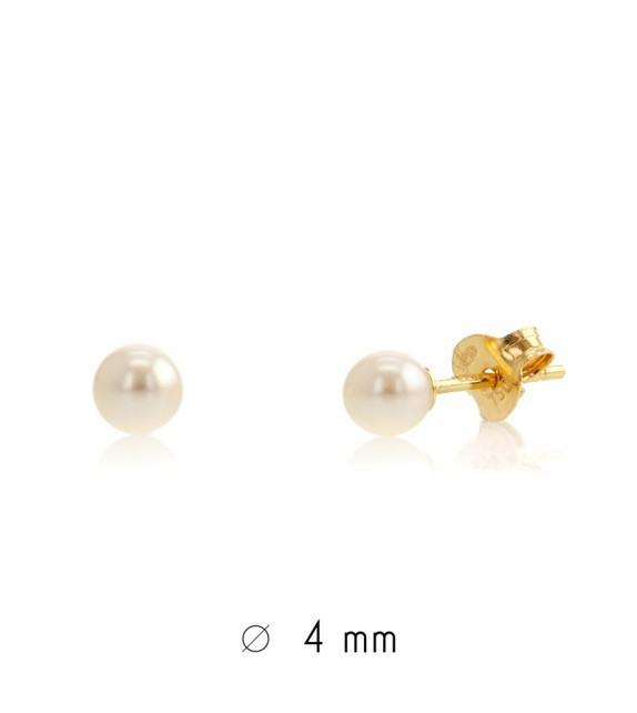 Boucles d'oreilles perles d'eau douce 4-4,5 mm Or jaune 750/00