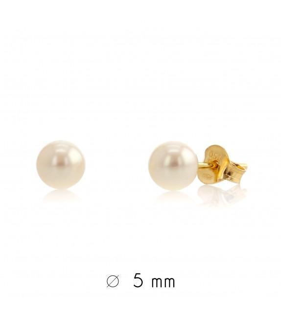 Boucles d'oreilles perles d'eau douce 5-5,5 mm Or jaune 750/00